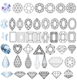 Cut gem stones vector | Price: 1 Credit (USD $1)