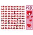 cute heart emoji emoticons vector image vector image