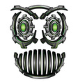 Cyber techno digital robot face design vector image vector image