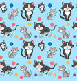 different cat on seamless pattern vector image vector image
