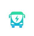 electric bus icon vector image vector image