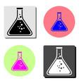 erlenmeyer flask flat icon vector image