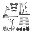 fitness workout equipment training apparatus vector image vector image