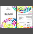 flyer template with colorful squares vector image vector image