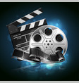 for the film industry reel film and vector image