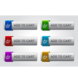 Glossy add to cart buttons set vector | Price: 1 Credit (USD $1)