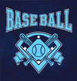 glowing baseball field vector image vector image