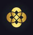 gold geometry flower decoration logo vector image vector image