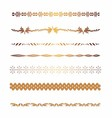 Golden Borders and elements for design vector image vector image