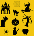 Halloween decor set vector image