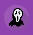 Halloween Flat Icon Creepy ghost vector image vector image