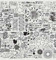 hand-drawn seamless pattern on science theme vector image