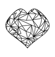 Heart and love ornament vector image