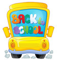 image with school bus theme 3 vector image