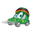 jamaican car cartoon isolated on white background vector image vector image