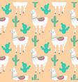 llama cacti cactus funny alpaca cartoon vector image vector image