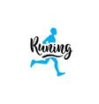logo running man vector image vector image