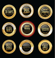 luxury golden retro badges collection 10 vector image