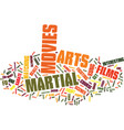 martial arts movies text background word cloud vector image vector image