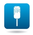 Melting ice cream icon simple style vector image vector image