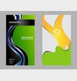 modern business - card set vector image