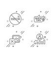 no smoking checkbox and education idea icons set vector image vector image