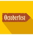 Oktoberfest road wooden sign flat icon vector image