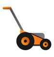 orange lawnmower icon cartoon style vector image