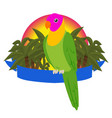 parrot paradise banner birds vector image vector image