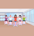 people group sitting on fitness ball men women vector image