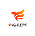 phoenix fire bird logo design concepts dove eagle vector image
