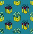 present box seamless pattern vector image vector image