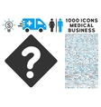 question icon with 1000 medical business vector image vector image