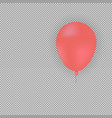 red helium balloon on transparent background vector image