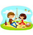 romantic picnic vector image