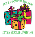 Season Of Giving vector image vector image