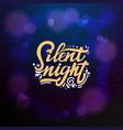 silent night typographic emblem logo vector image