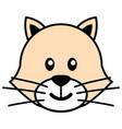 simple cartoon a cute cat vector image vector image