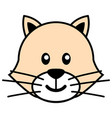 simple cartoon of a cute cat vector image vector image