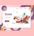 skate website landing page design template vector image vector image