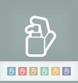 soap dispenser vector image