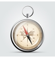 Steel compass with windrose and map vector image vector image