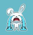 sticker emoji emoticon emotion sob cry weep vector image