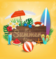 summer background 2018 4 vector image vector image