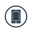 Tablet flat icon vector image vector image