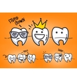 Teeth orange cartoons vector image