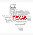 texas state word cloud vector image