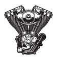 vintage motorcycle engine template vector image vector image