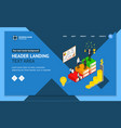 winner business success concept landing web page vector image