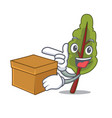 with box chard character cartoon style vector image